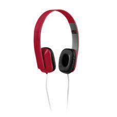 Auriculares plegables plástico rojo