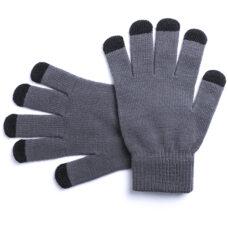 Guante táctil 5 dedos gris Rgregalos
