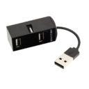 4 Puertos USB 2.0 negro - RGregalos publicitarios