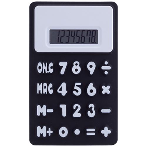 Calculadora en silicona negra Rgregalos