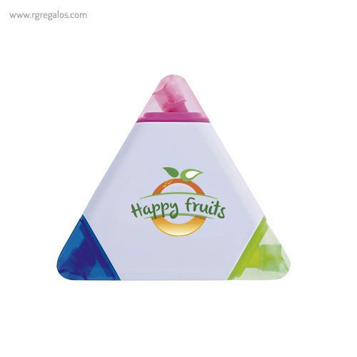 Marcador fluorescente tricolor - RG regalos publicitarios