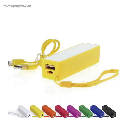 Power Bank 2000 mAh bicolor - RG regalos publicitarios