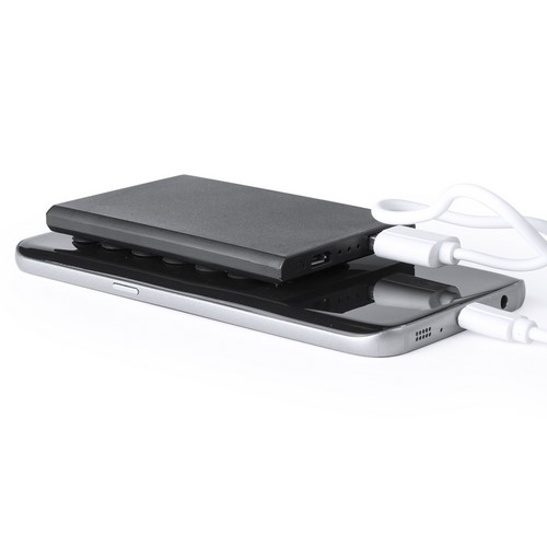 POWER BANK 2000 mAh EXTRA PLANO negro - RGregalos