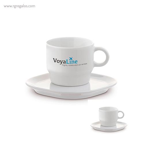 Taza y plato para café - RG regalos publicitarios