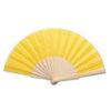 Abanico tela varillas madera amarillo - RGregalos
