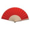 Abanico tela varillas madera rojo - RGregalos
