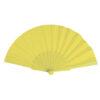Abanico tela varillas plástico amarillo - RG regalos publicitarios