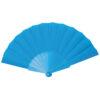 Abanico tela varillas plástico azul - RG regalos publicitarios