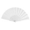Abanico tela varillas plástico blanco - RG regalos publicitarios