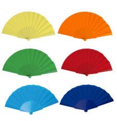 Abanico tela varillas plàstico colores - RGregalos