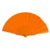Abanico tela varillas plástico naranja - RG regalos publicitarios