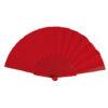 Abanico tela varillas plástico rojo - RG regalos publicitarios