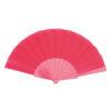 Abanico tela varillas plástico rosa - RG regalos publicitarios