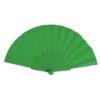 Abanico tela varillas plástico verde - RG regalos publicitarios