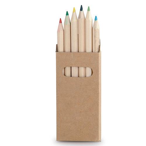 Caja lápices 6 colores detalle - RGregalos