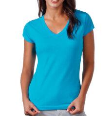 Camiseta 100% algodón cuello pico mujer - RGregalos
