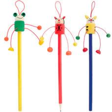 Lápiz madera con muñeco - RGregalos