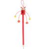 Lápiz madera con muñeco rojo - RGregalos