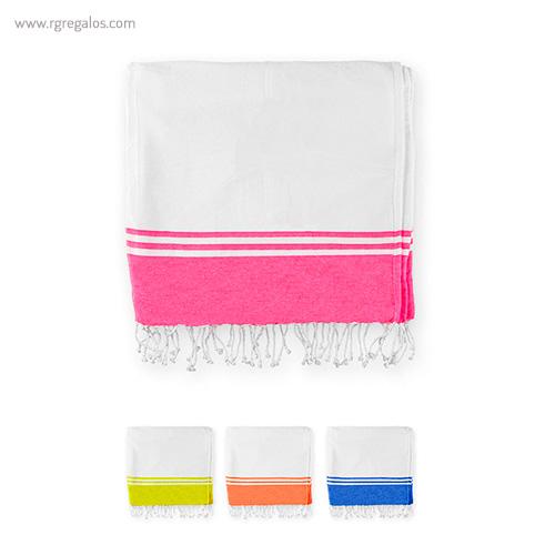Pareo toalla borde color - RG regalos publicitarios
