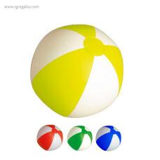 Pelota playa hinchable Bicolor 28 cm - RG regalos publicitarios