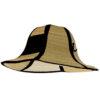 Sombrero de paja plegable negro - RGregalos