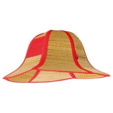 Sombrero paja plegable rojo - RGregalos
