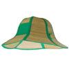 Sombrero de paja plegable verde - RGregalos