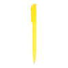 Bolígrafo plástico con clip cuadrado amarillo - RGregalos