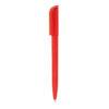 Bolígrafo plástico con clip cuadrado rojo - RGregalos