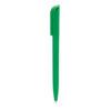 Bolígrafo plástico con clip cuadrado verde - RGregalos