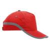 Gorra bandas reflectantes roja - RGregalos