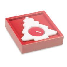 Portavela árbol navidad con caja - RG regalos publicitarios