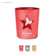 Portavela cristalestrella roja - RG regalos publicitarios