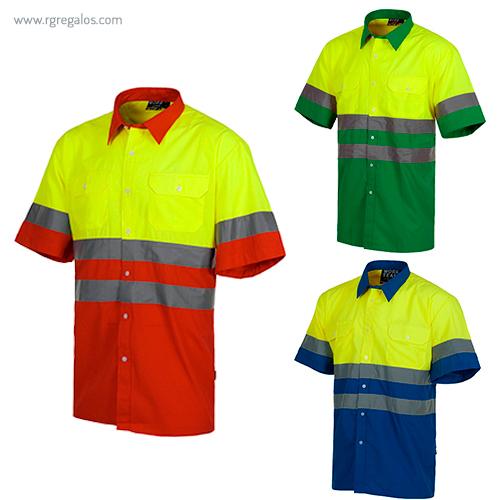 Camisa alta visibilidad combinada - RG regalos publicitarios