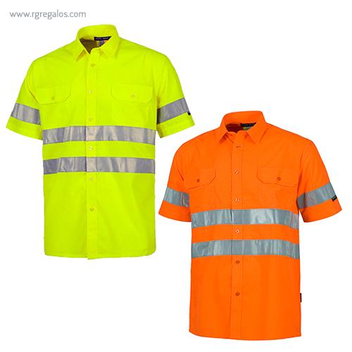 Camisa alta visibilidad manga corta - RG regalos publicitarios