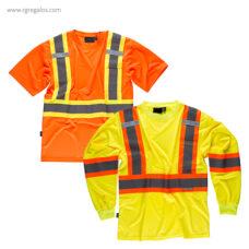Camiseta alta visibilidad con bolsillo - RG regalos publicitarios