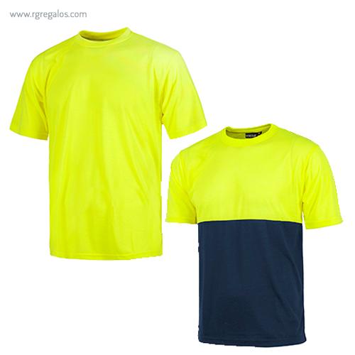 Camiseta alta visibilidad manga corta - RG regalos publicitarios