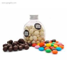 Bote pet con cacahuetes de chocolate - RG regalos publicitarios