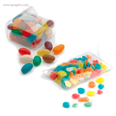 Estuche plástico con caramelos tulipa - RG regalos publicitarios