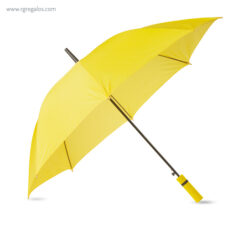 Paraguas automático mango de eva amarillo - RG regalos publicitarios