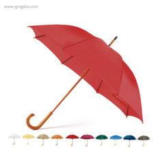 Paraguas mango y caña de madera
