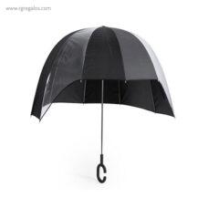Paraguas manos libres publicitario negro - RG regalos publicitarios