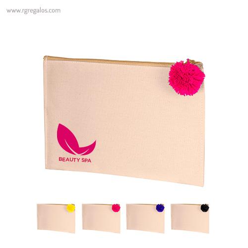 Neceser en canvas con pompón - RG regalos publicitarios