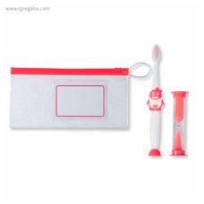 Set de cepillo de dientes infantil rojo - RG regalos publicitarios
