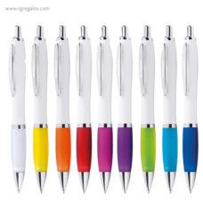 Bolígrafo con pulsador y clip metálico - RG regalos publicitarios
