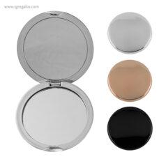 Espejo redondo metalizado - RG regalos publicitarios