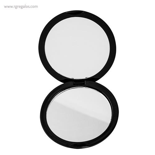 Espejo redondo metalizado rg regalos publicitarios for Espejo redondo negro