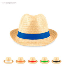 Sombrero de papel paja cinta colores - RG regalos publicitarios