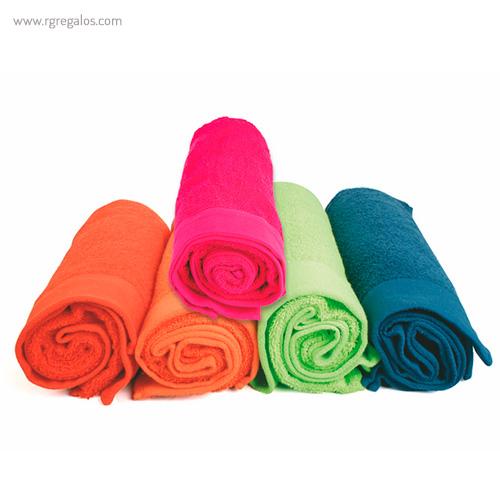 Toalla publicitaria en vivos colores - RG regalos publicitarios