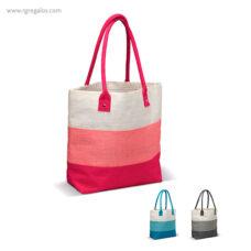 Bolsa de playa en yute rayas - RG regalos publicitarios